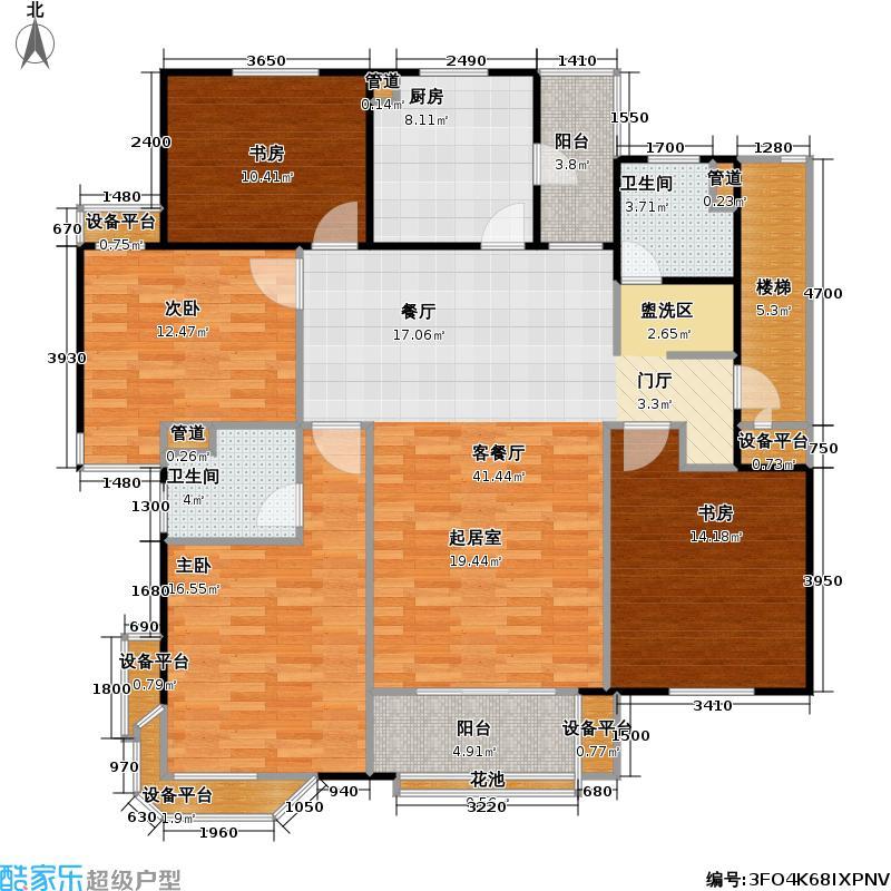 鼎泰丰2期143.00㎡多层E2户型4室2厅2卫