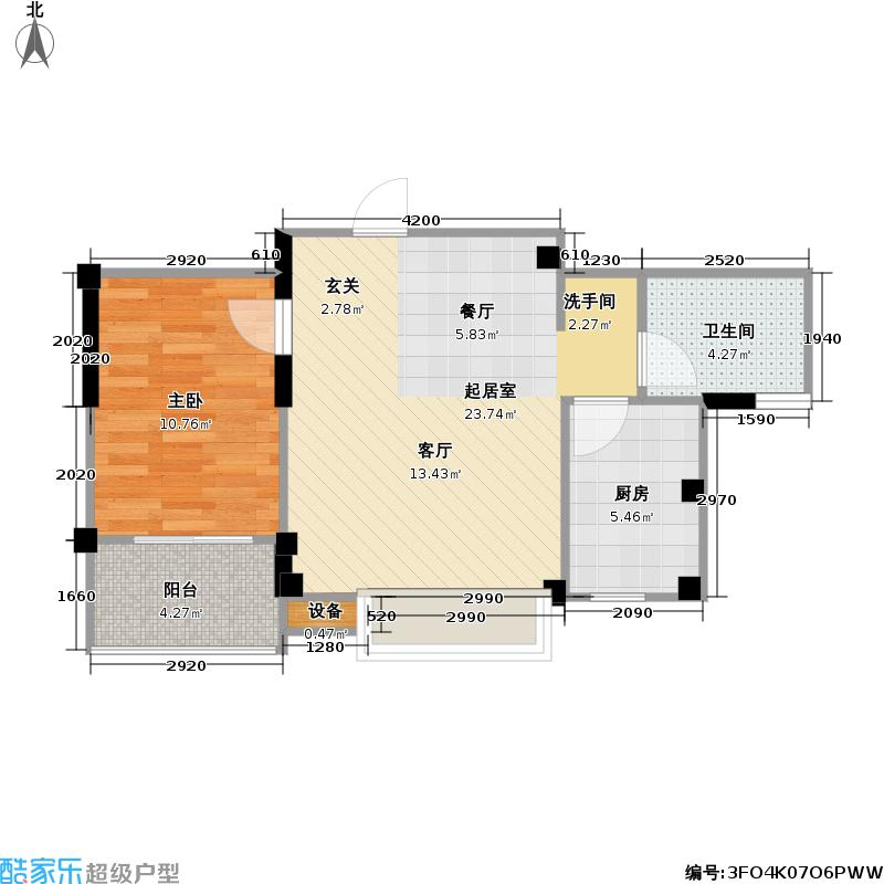 国信馨园香樟水岸35.00㎡房型户型