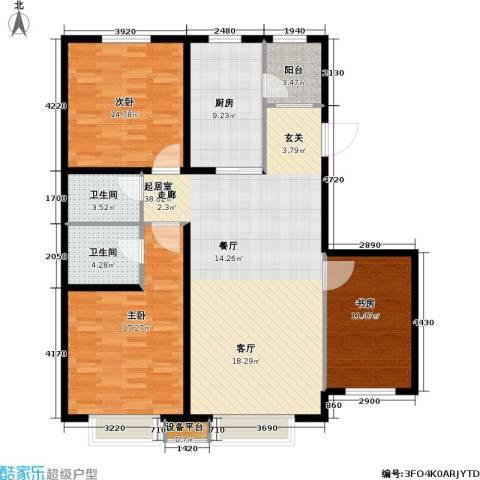 第一城D组团3室0厅2卫1厨115.00㎡户型图
