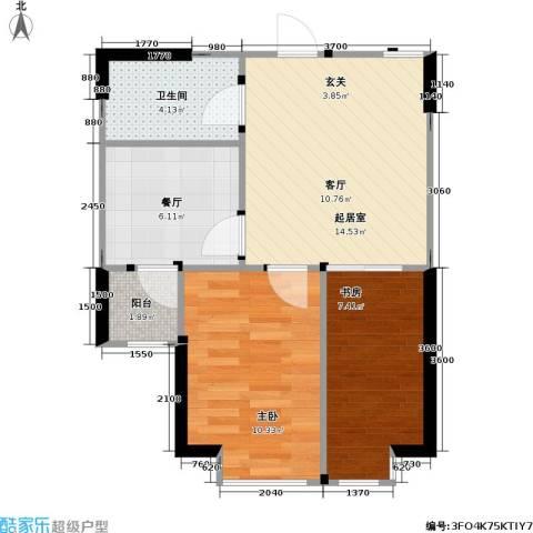 御海龙湾2室1厅1卫0厨61.00㎡户型图