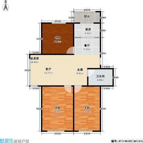 龙腾金荷苑3室0厅1卫1厨91.00㎡户型图