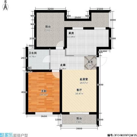 天屋福城1室0厅1卫1厨107.00㎡户型图