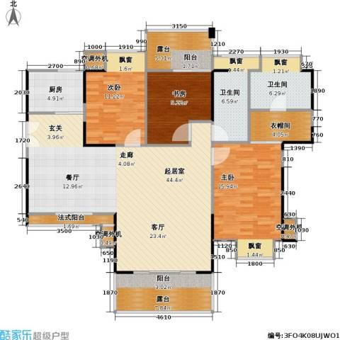 风和日丽四期3室0厅2卫1厨128.99㎡户型图