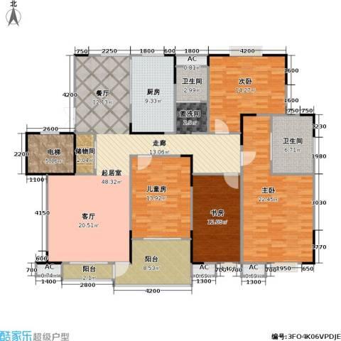 奥体新城海棠园4室0厅2卫1厨168.00㎡户型图