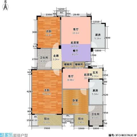 武夷水岸家园2室0厅2卫2厨147.00㎡户型图