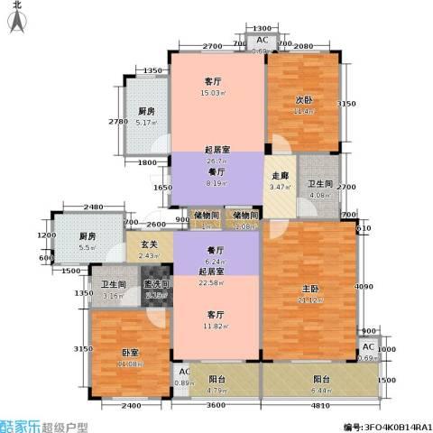 武夷水岸家园2室0厅2卫2厨170.00㎡户型图
