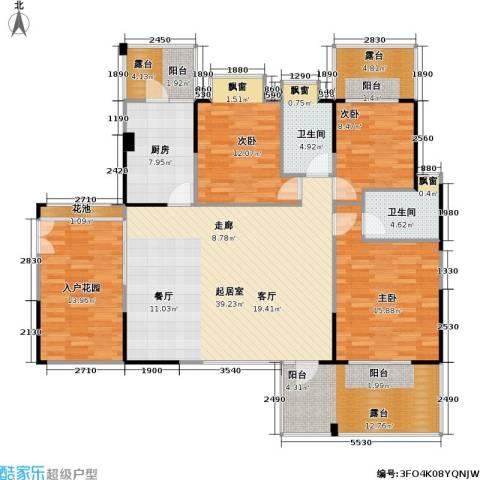 风和日丽四期3室0厅2卫1厨139.84㎡户型图