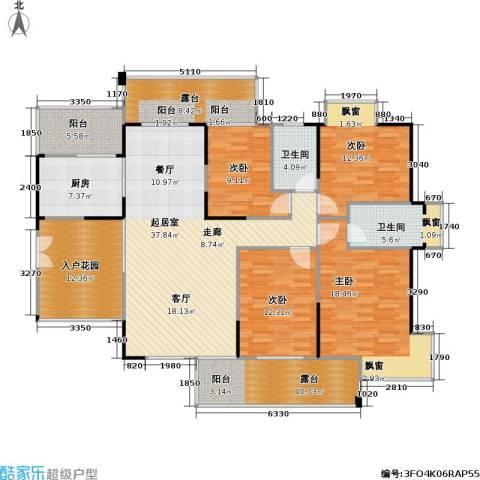 风和日丽四期4室0厅2卫1厨155.38㎡户型图