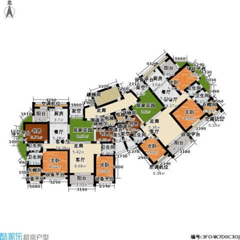 翠里8室2厅6卫2厨207.00㎡户型图