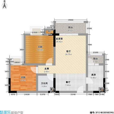 佳乐园住宅小区2室0厅1卫1厨69.00㎡户型图