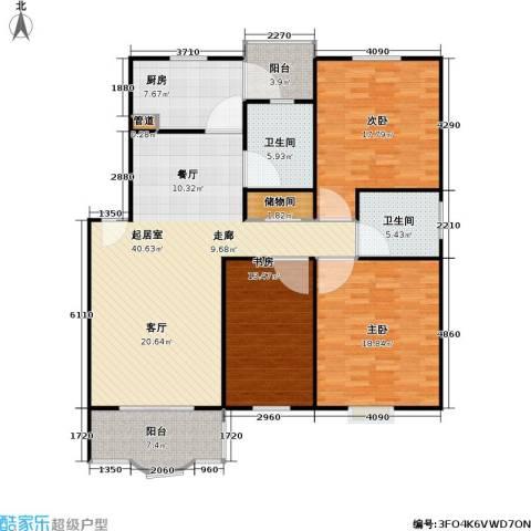 昌鑫协和园3室0厅2卫1厨132.00㎡户型图
