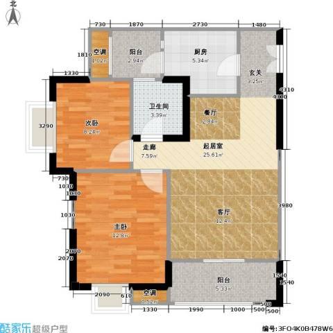 康德・城市风云 城市风云社区2室0厅1卫1厨68.00㎡户型图
