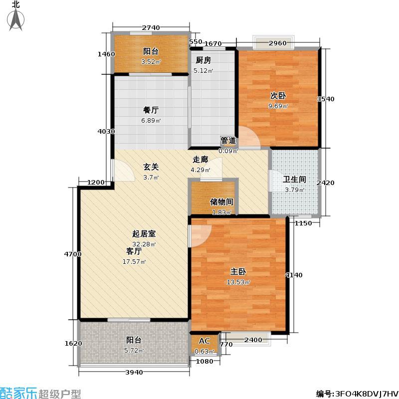 迎春新苑82.74㎡房型: 二房; 面积段: 82.74 -111.53 平方米; 户型
