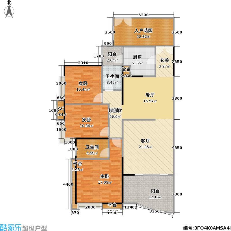 宏诚海岸花园117.30㎡宏峰轩4栋03单元户型