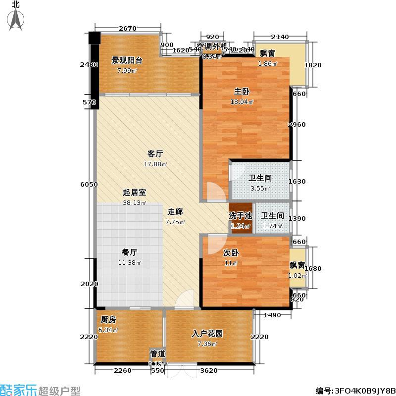 美丽山水滨江高层住宅实景现房86.03㎡-户型