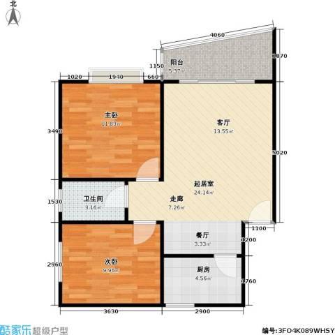阳光名城(一期)2室0厅1卫1厨70.00㎡户型图