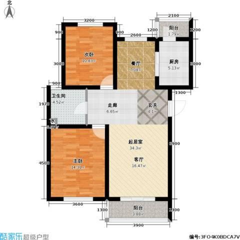 天屋福城2室0厅1卫1厨107.00㎡户型图