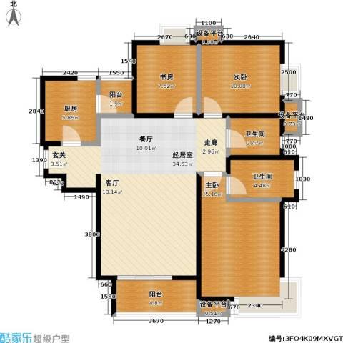 瞰海3室0厅2卫1厨128.00㎡户型图