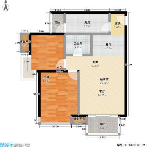 瞰海2室0厅1卫1厨90.00㎡户型图