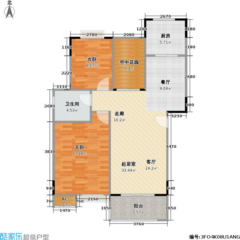芭比伦堡66.00㎡房型户型