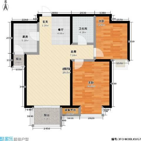 瞰海2室0厅1卫1厨93.00㎡户型图