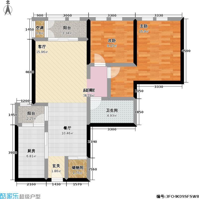 海河・金湾公寓2-e(1)户型