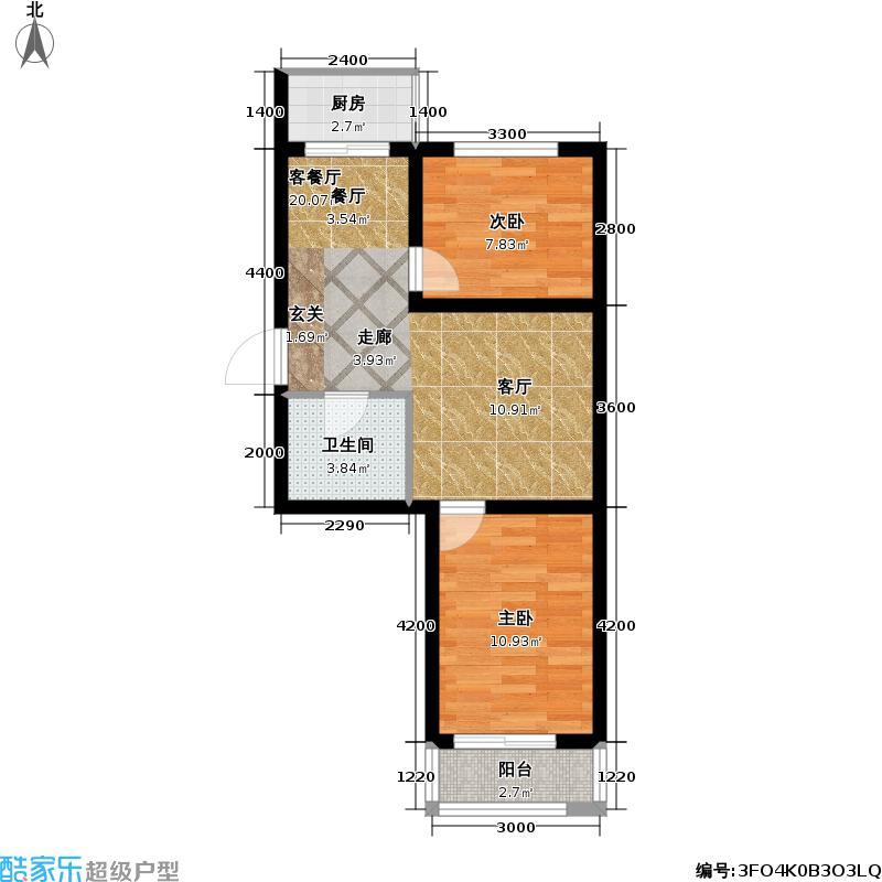 奇尔斯公馆51.00㎡房型户型
