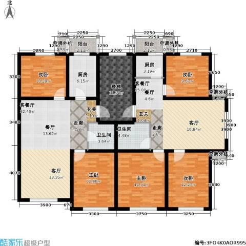 博雅馨园5室2厅2卫2厨218.00㎡户型图