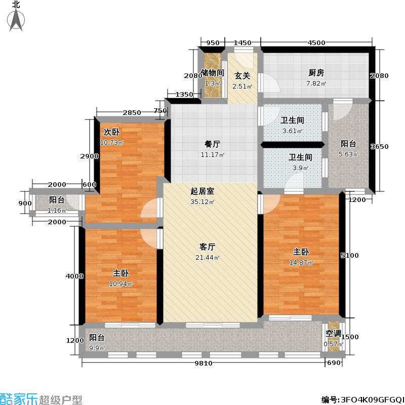 海河・金湾公寓3-b(2)户型