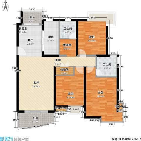玲珑古北 新贵族名邸3室0厅2卫1厨127.71㎡户型图