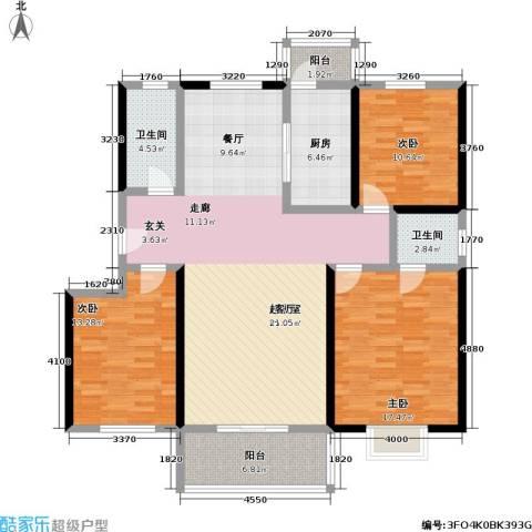 桃花园山澜乡韵三期3室0厅2卫1厨156.00㎡户型图