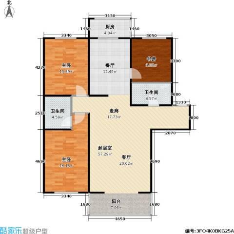 龙腾金荷苑3室0厅2卫1厨120.00㎡户型图