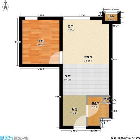 伯伦国际・时代之尚1室1厅1卫0厨47.00㎡户型图