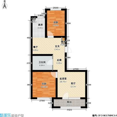 雷明雅阁2室0厅1卫0厨73.00㎡户型图