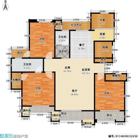 建业森林半岛3室0厅2卫0厨130.00㎡户型图