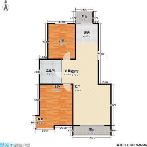 正大江南水乡一期2室1厅1卫0厨102.00㎡户型图