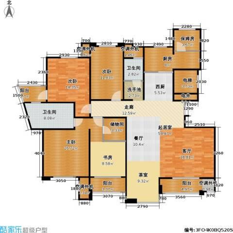 建业森林半岛3室0厅2卫1厨170.00㎡户型图
