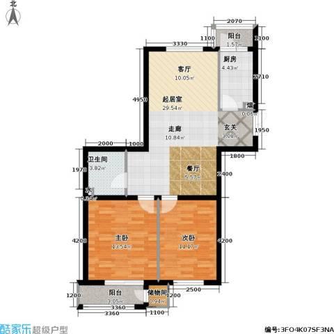 三江・紫香园2室0厅1卫1厨94.00㎡户型图