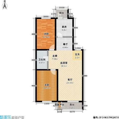 碧水名门二期2室0厅1卫1厨111.00㎡户型图