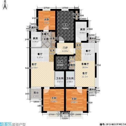 博雅馨园3室2厅2卫2厨160.00㎡户型图