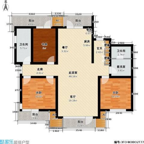雷明雅阁3室0厅2卫0厨165.00㎡户型图