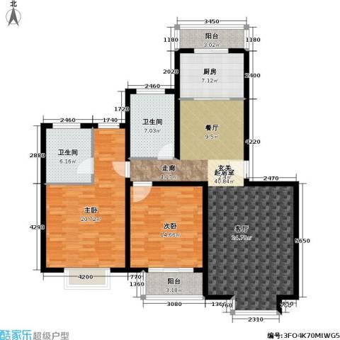 金桥新城二期2室0厅2卫1厨102.71㎡户型图