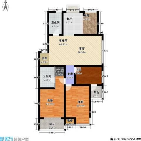 金世纪.红枫苑3室1厅2卫0厨149.00㎡户型图