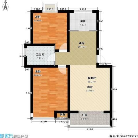 金世纪.红枫苑2室1厅1卫0厨101.00㎡户型图