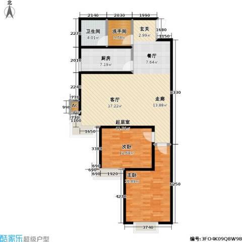 华泰・忆江南 忆江南2室0厅1卫1厨97.00㎡户型图