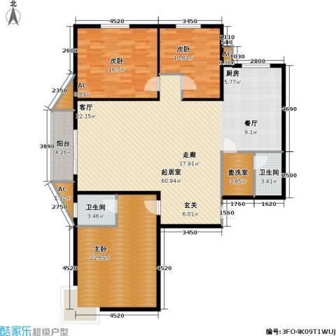 华泰・忆江南 忆江南3室0厅2卫0厨140.00㎡户型图