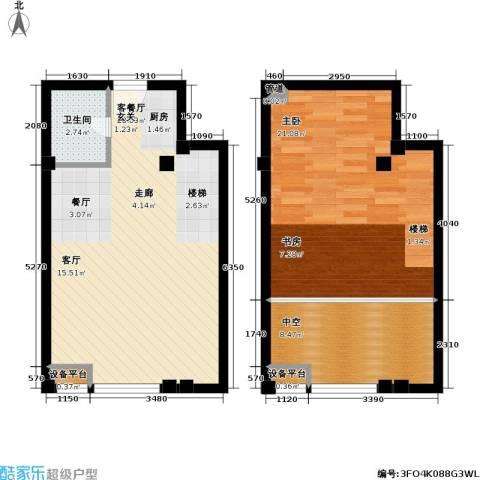 吴越新天广场1室1厅1卫0厨68.96㎡户型图