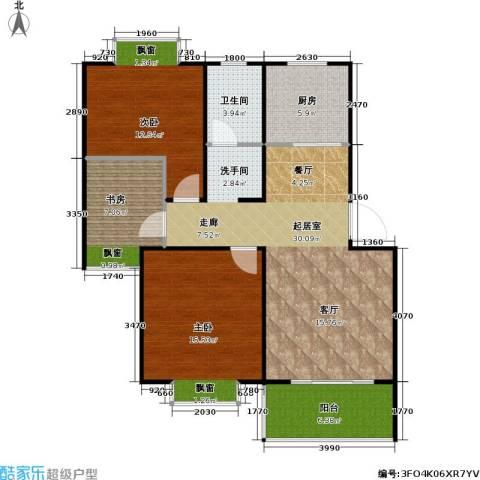 湖岸名家3室0厅1卫1厨110.00㎡户型图