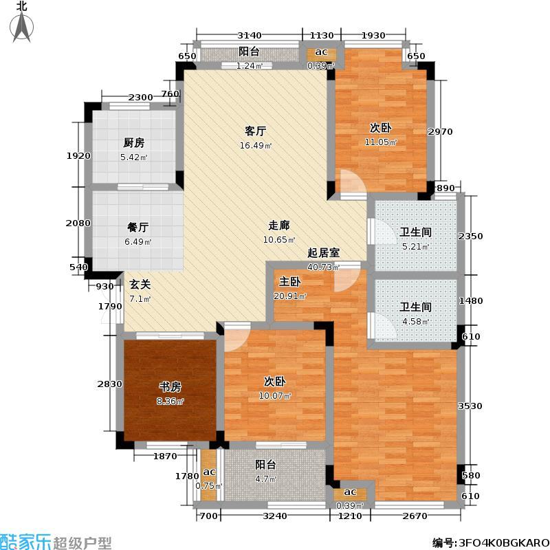 奥兰多小镇137.00㎡房型复式户型