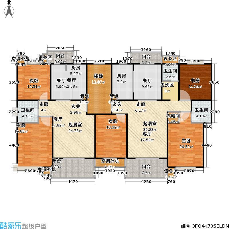 望族新城91.88㎡房型: 二房; 面积段: 91.88 -114.58 平方米;户型